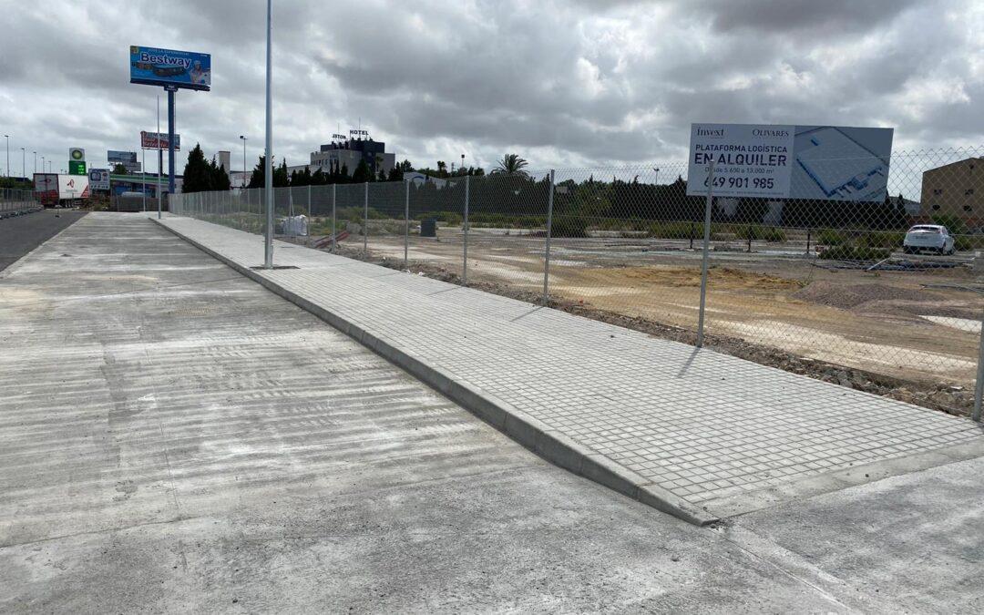 Invext finaliza la urbanización de las calles del proyecto logístico en Catarroja