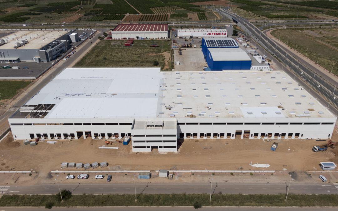 Invext avanza en las obras de su plataforma logística en el Puerto de Sagunto de 20.000 m2 de techo